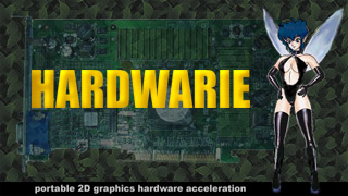 Hardwarie - portable 2D graphics hardware acceleration